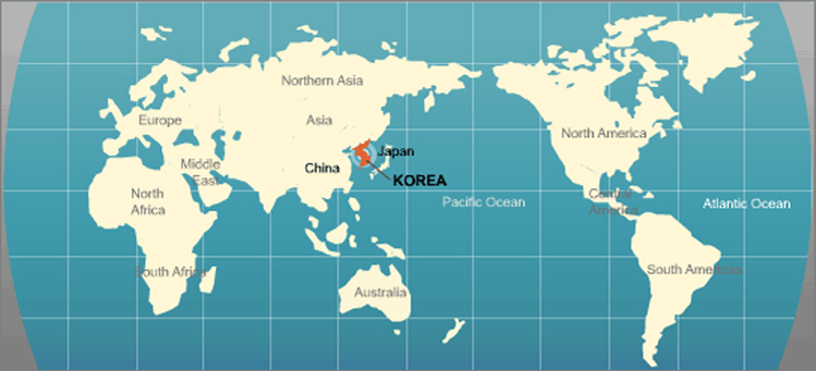 Map Of Asia Korean Peninsula.Geography Life In Seoul Health Service Living At Uos Campus